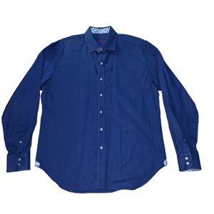 NWOT Robert Graham Flip Cuff L/S Shirt XL Paisley